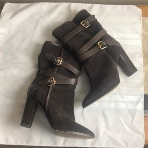 Coach Alexandra brown suede leather boot  Sz 8